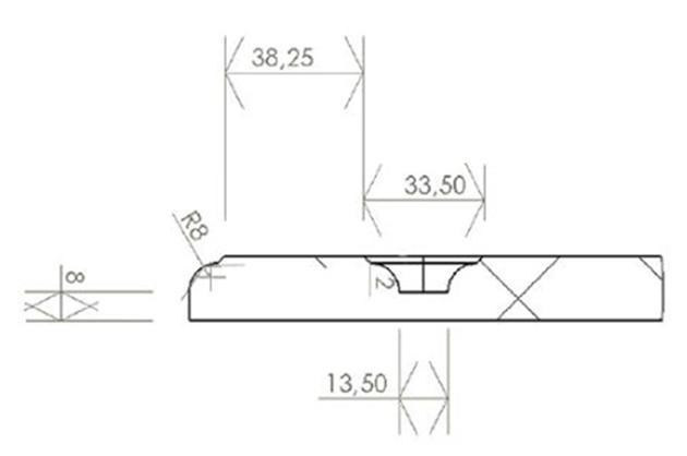 Schiță dimensiuni Front din MDF vopsit - model ARCO