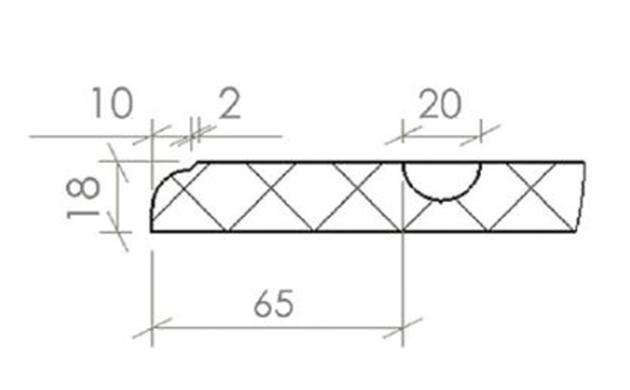 Schiță dimensiuni Front din MDF vopsit - model FRESCO