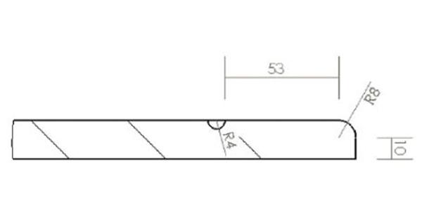 Schiță dimensiuni Front din MDF vopsit - model FOLIO