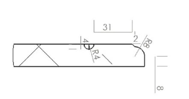 Schiță dimensiuni Front din MDF vopsit - model LIGNO