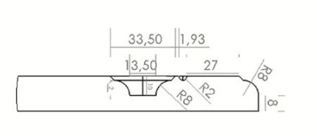Schiță dimensiuni Front din MDF vopsit - model MARBELLA
