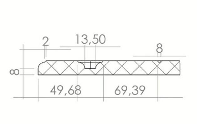 Schiță dimensiuni Front din MDF vopsit - model LOGIA