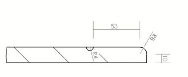 Schiță dimensiuni Front din MDF vopsit - model LIMELLA