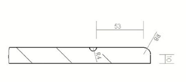 Schiță dimensiuni Front din MDF vopsit - model QUADRA