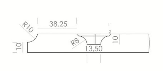 Schiță dimensiuni Front din MDF vopsit - model STILO