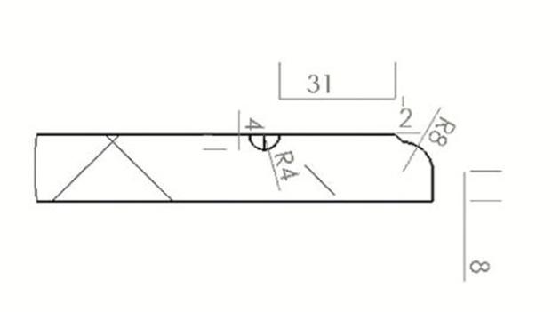 Schiță dimensiuni Front din MDF vopsit - model SIGNIA