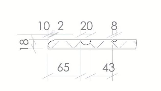 Schiță dimensiuni Front din MDF vopsit - model SEFORA