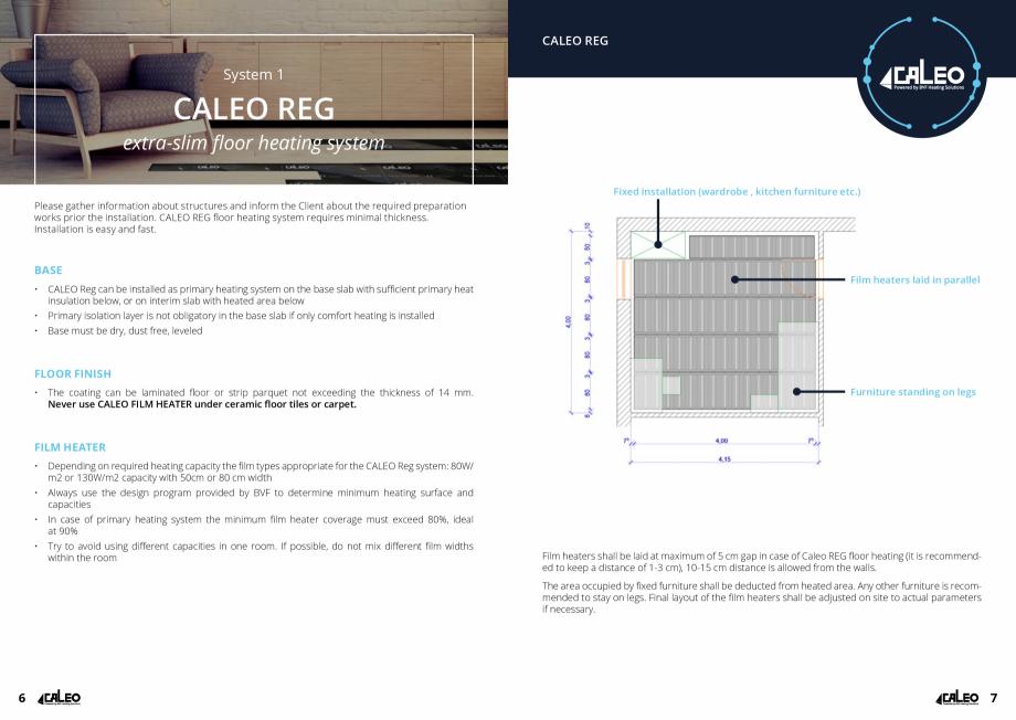 Pagina 4 - Folie incalzitoare Walton CALEO CNT Fisa tehnica Engleza lation, temperature limiting...