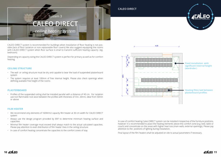 Pagina 6 - Folie incalzitoare Walton CALEO CNT Fisa tehnica Engleza installed as primary heating...