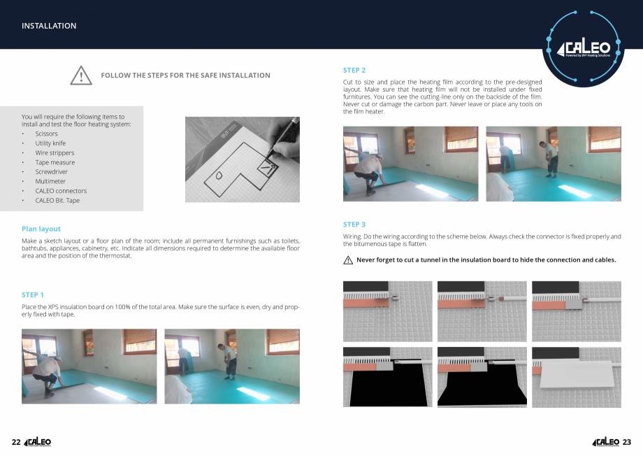 Pagina 12 - Folie incalzitoare Walton CALEO CNT Fisa tehnica Engleza der ceramic tile  14  Floor...