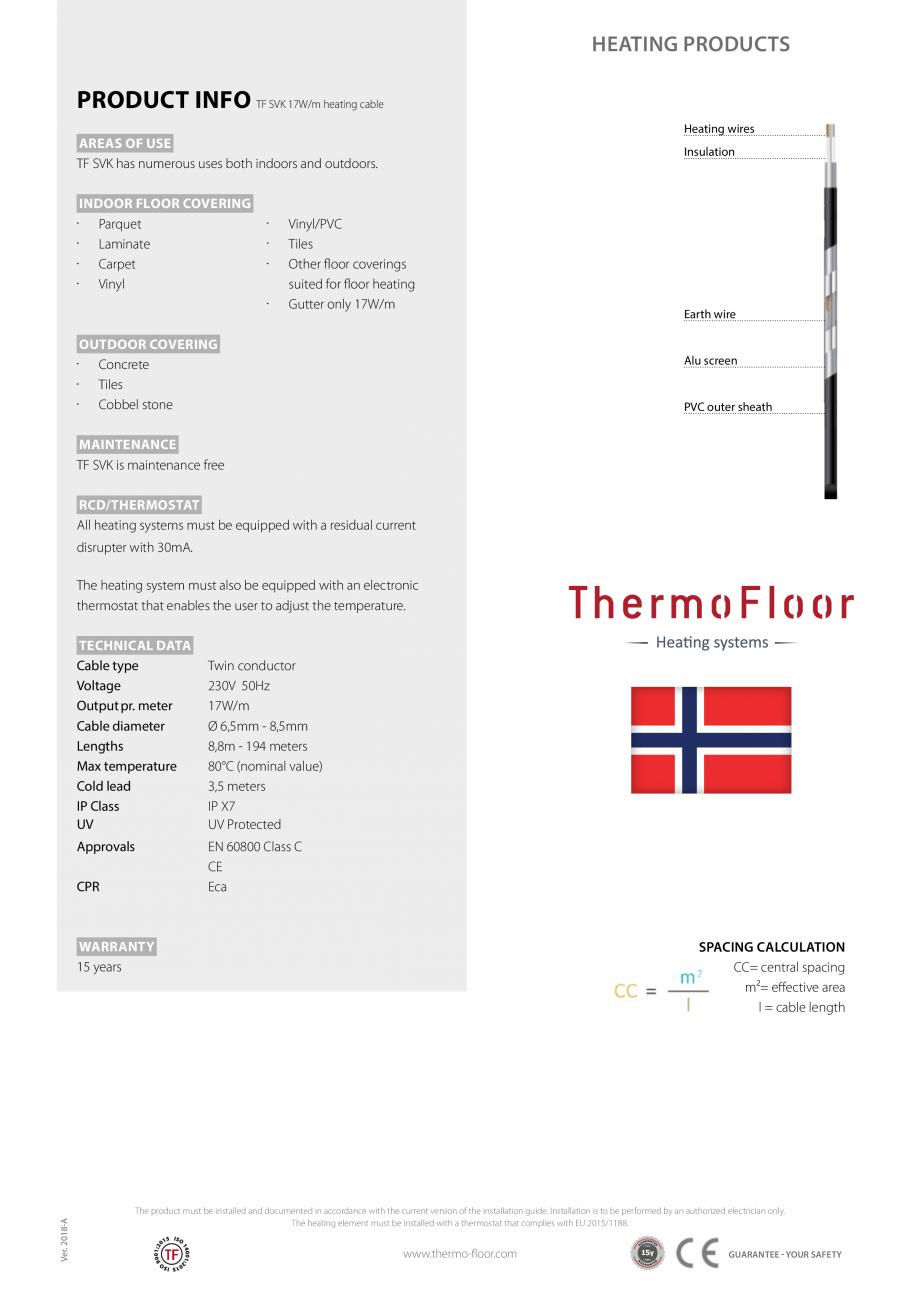 Pagina 2 - Cablu incalzitor bifilar Walton TF SVK Fisa tehnica Engleza s for different rooms, which ...