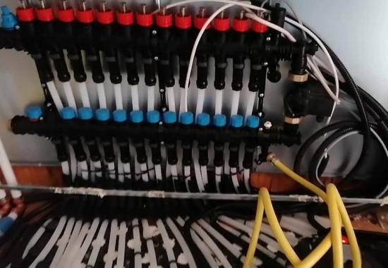 Incalzire si racire in pardoseala cu agent termic TECE