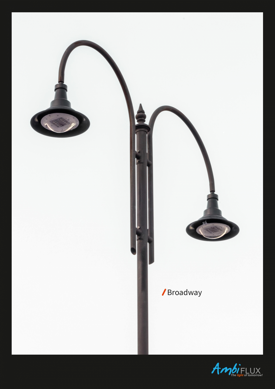 Pagina 1 - Brosura - Stalp - si  lampa - Ambiflux Broadway  Catalog, brosura Romana