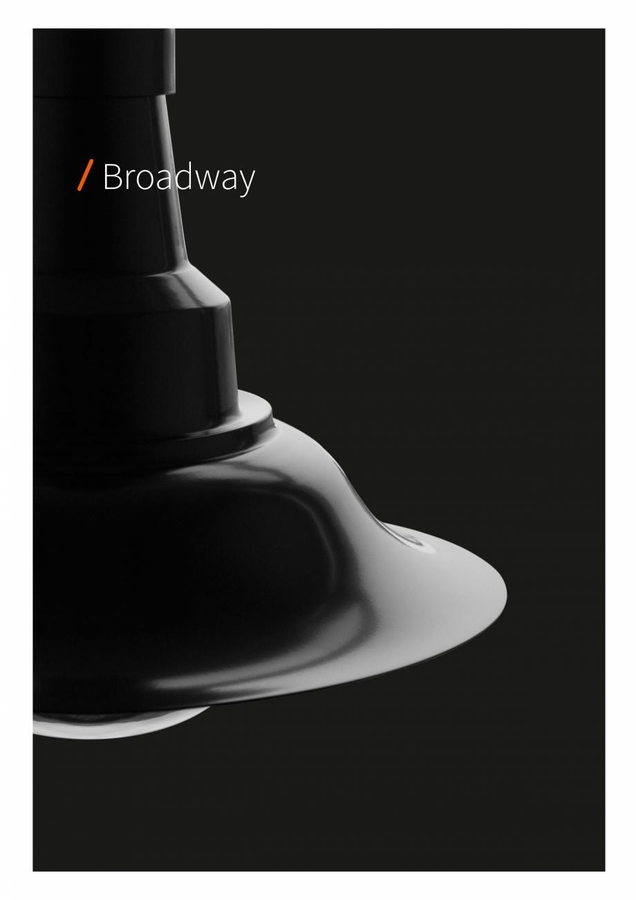 Pagina 2 - Brosura - Stalp - si  lampa - Ambiflux Broadway  Catalog, brosura Romana