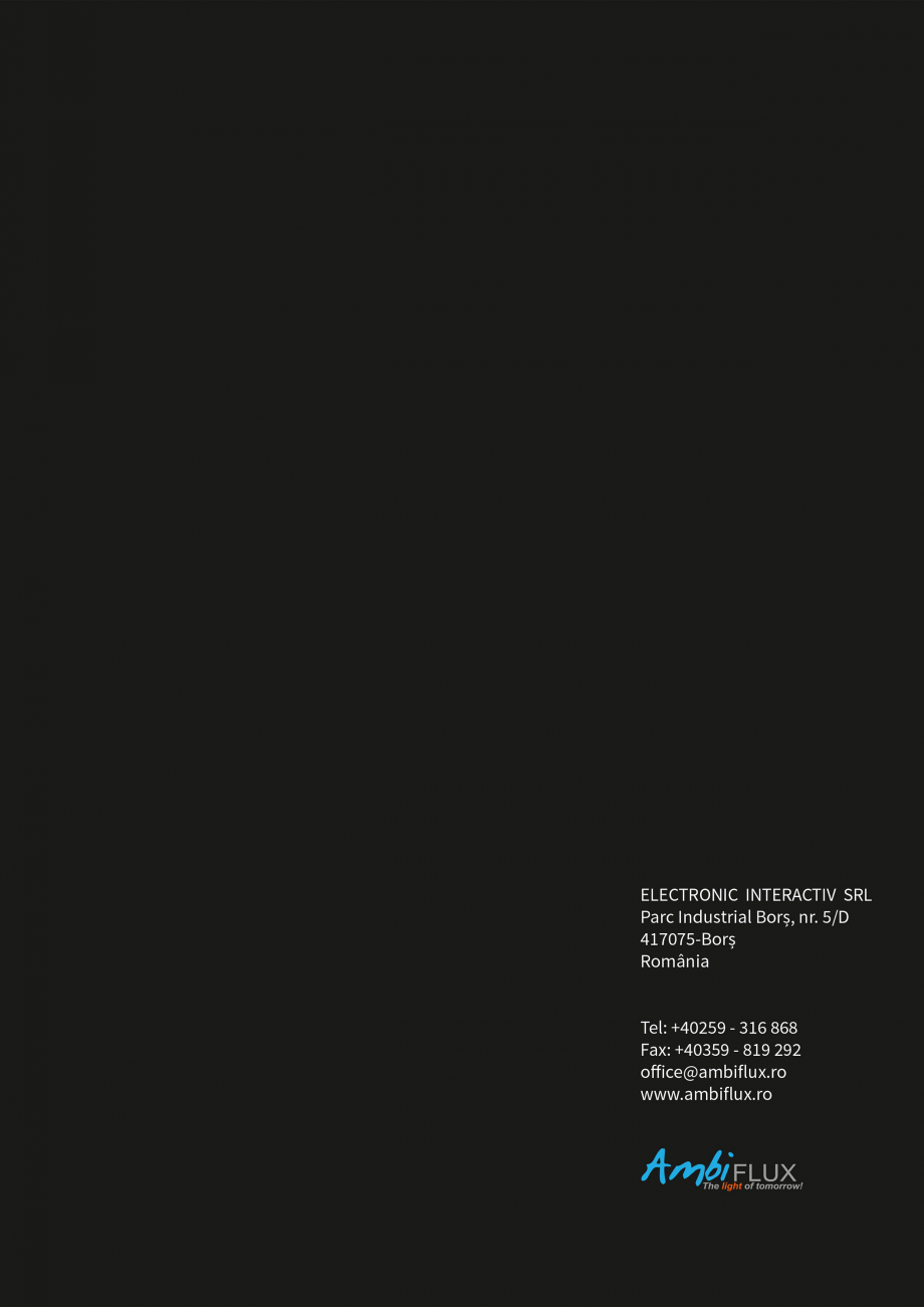 Pagina 6 - Brosura - Stalp - si  lampa - Ambiflux Broadway  Catalog, brosura Romana