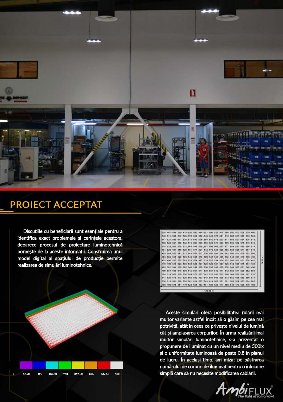 Pagina 3 - Studiu de caz CELESTICA - Oradea - Implementarea solutiei de iluminat Ambiflux  Lucrari, ...