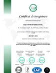 Certificat ISO 9001-2015 - Productie echipamente electronice si de iluminat proiectare si montaj panouri fotovoltaice fixe