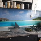 Plaja - Sticla printata