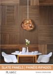 Panouri decorative din fasii de lemn lipite pe mdf Slate Panels CREATIVE ARQ - PLADEC Slate