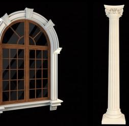 Profile decorative din polistiren pentru fatade WEST ARCHITECTURAL