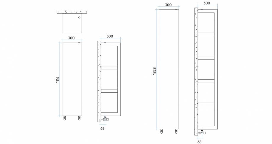 Pagina 1 - CAD-PDF Calorifer baie VON LORCH Detaliu de produs Quadraqua