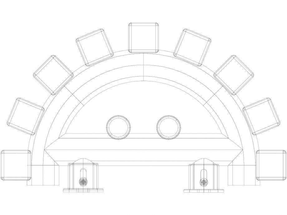 Pagina 1 - CAD-DWG Calorifer baie WGVER190028-ZX VON LORCH Detaliu de produs Triga