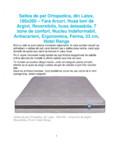 Saltea de pat ortopedica din latex 180x200 - fara arcuri husa ioni de argint Ortopedicus -
