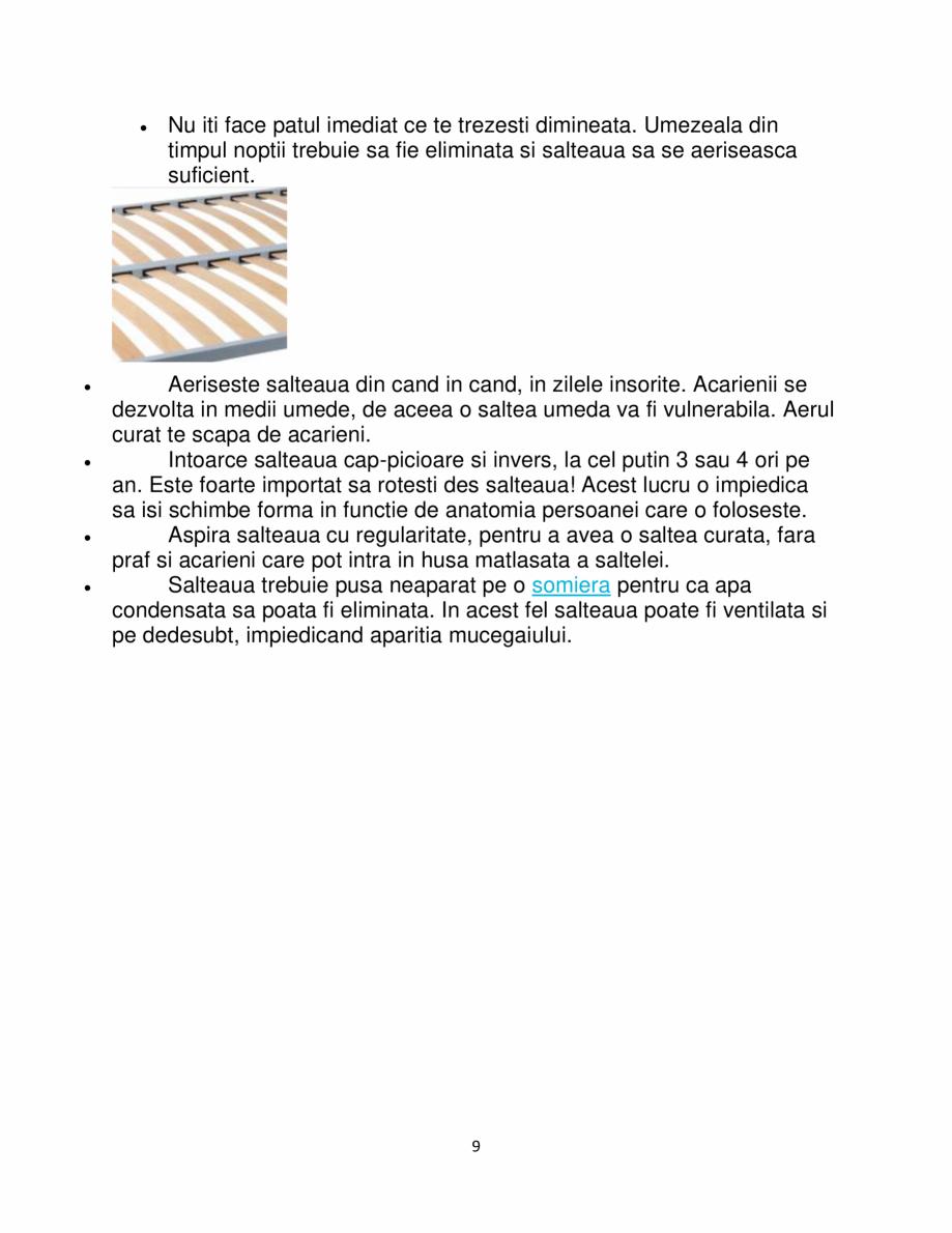 Pagina 9 - Saltea de pat ortopedica, Bio Cocos, Bio Bambus, 15+2+6 cm, 180×200, Fara Arcuri t,...