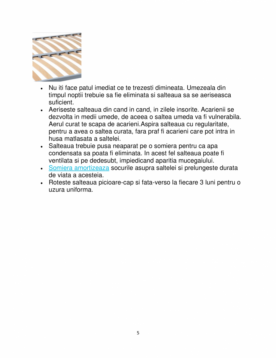 Pagina 5 - Saltea super ortopedica Ergomed, Aloe Vera, reversibila, 20+1 cm, 150×190 ...