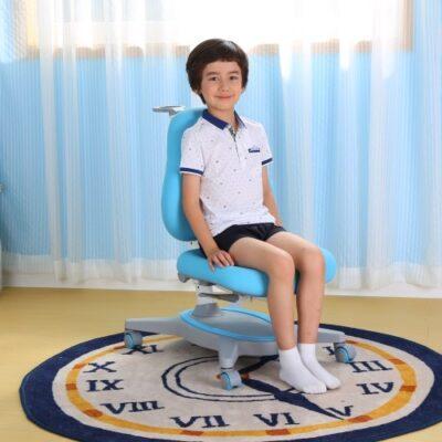 Scaun de studiu ergonomic pentru copii reglabil în înălțime și adâncime Ergok FRIDA Albastru FRIDA Albastru