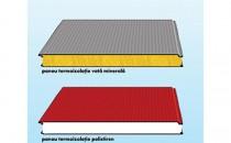 Panouri termoizolante pentru pereti Tabla de otel folosita la realizarea panourilor termoizolante COILPROFIL este protejata anticoroziv prin zincare cu 275 g/m 2 si poate avea grosimea de 0.5 / 0.6 mm.