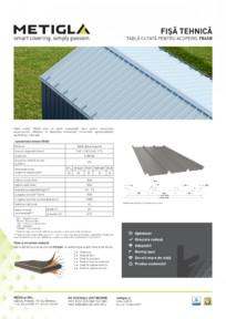 Fisa tehnica - Tabla cutata pentru acoperis TR45 METIGLA