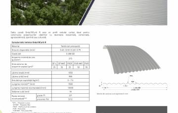 Fisa tehnica - Tabla cutata pentru acoperis Ondu18 Curb - METIGLA