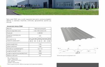 Fisa tehnica - Tabla cutata pentru acoperis TR30 - METIGLA