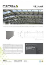 Fisa tehnica - Profile zincate tip U - METIGLA