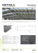 Fisa tehnica - Profile zincate tip C - METIGLA