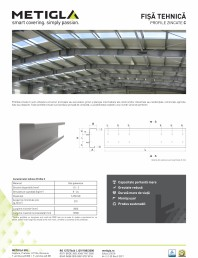 Fisa tehnica - Profile zincate tip C -
