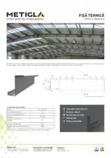 Fisa tehnica - Profile zincate tip Z - METIGLA