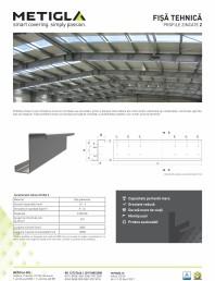 Fisa tehnica - Profile zincate tip Z -