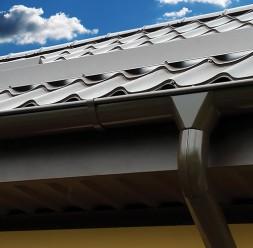 Sistem pluvial de jgheaburi si burlane pentru acoperis METIGLA