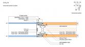 Pereti de compartimentare - Divido panel - O2 = Sectiune orizontala modul TECHO