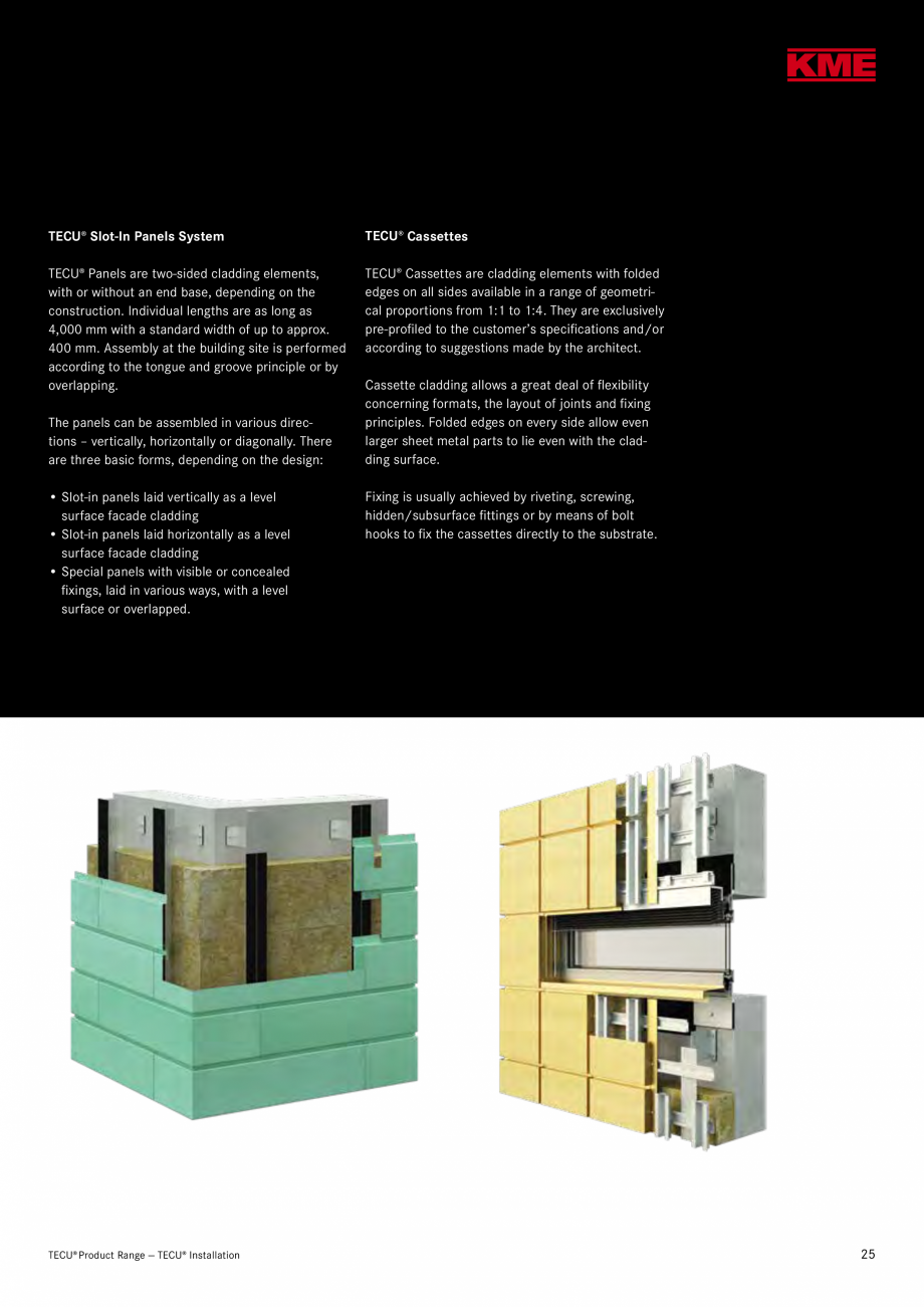 Catalog, brosura Produse TECU 2018 TECU MONSENA Acoperișuri fălțuite MONSENA and industrial building, Koblach, A AIX Architects, Feldkirch Peter GesMBH + CoKG, Koblach TECU®... - Pagina 27