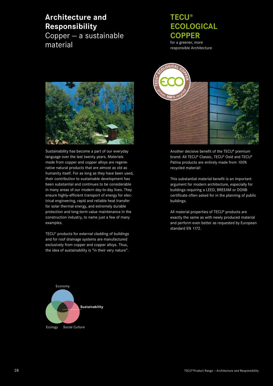 Catalog, brosura Produse TECU 2018 TECU MONSENA Acoperișuri fălțuite MONSENA , Sant Vincenç de Montalt, ES Marga Pérez Canal & Ana Aparicia, Barcelona KME Architectural... - Pagina 30