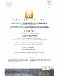 Certificat UE -SR EN 81-20:2015, SR EN 81-50:2015, SR En 81-21, A1:2012