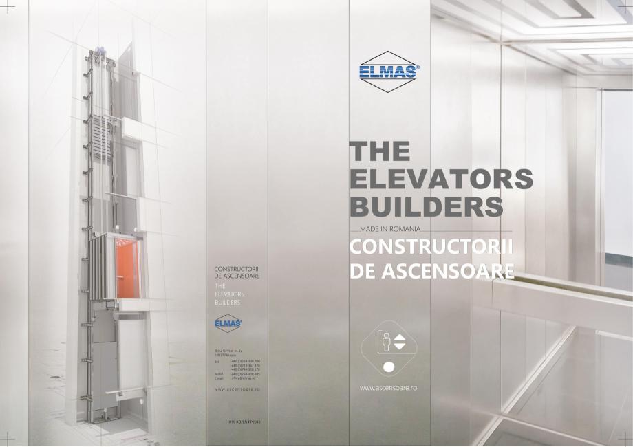 Pagina 1 - Constructorii de ascensoare ELMAS Catalog, brosura Engleza, Romana