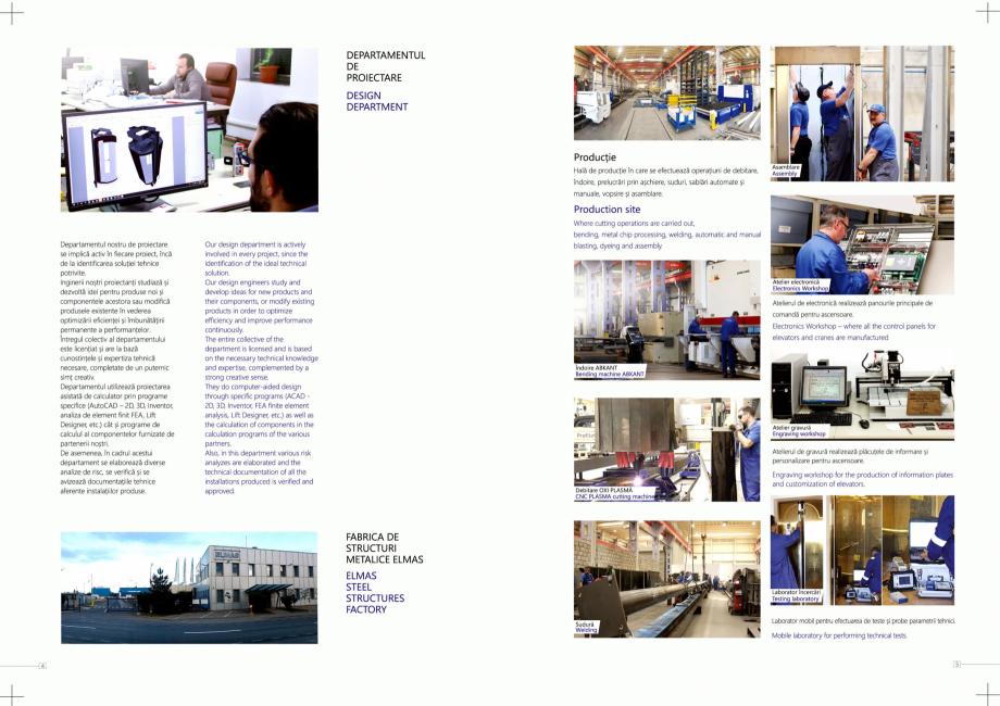 Pagina 3 - Constructorii de ascensoare ELMAS Catalog, brosura Engleza, Romana