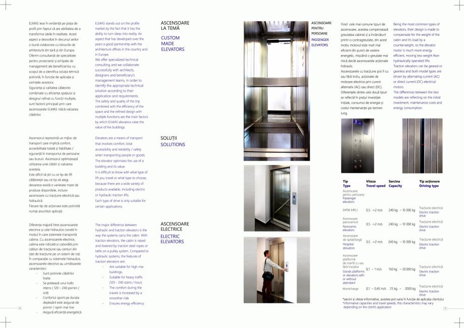 Pagina 4 - Constructorii de ascensoare ELMAS Catalog, brosura Engleza, Romana