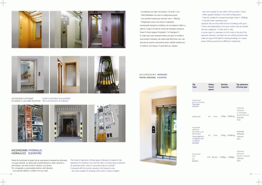 Pagina 5 - Constructorii de ascensoare ELMAS Catalog, brosura Engleza, Romana