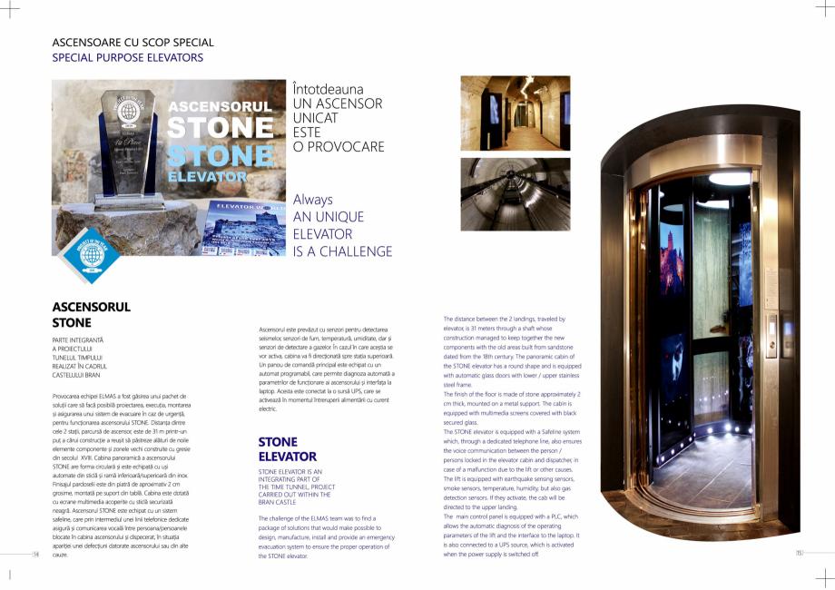Pagina 8 - Constructorii de ascensoare ELMAS Catalog, brosura Engleza, Romana