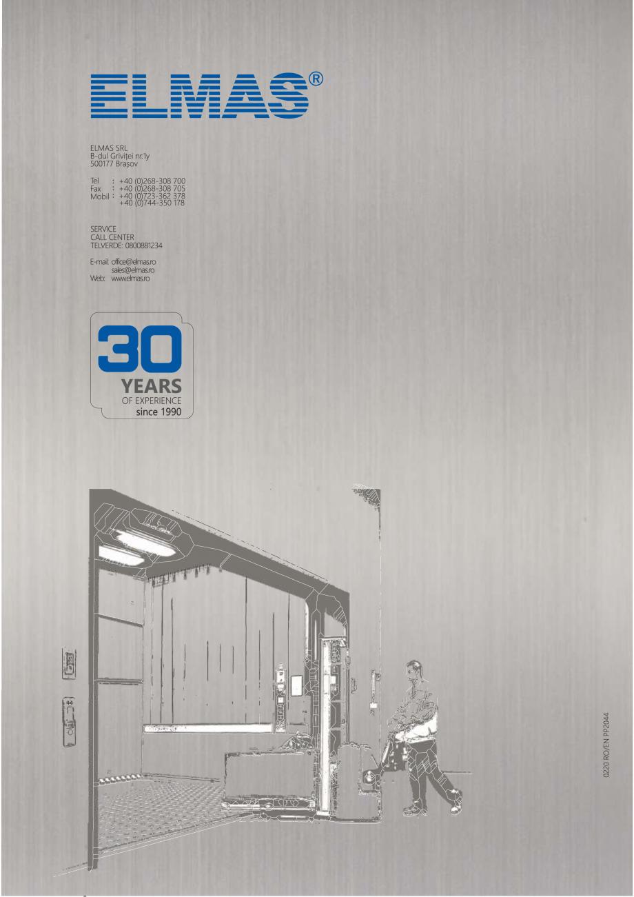 Pagina 12 - Constructorii de ascensoare - Locul 1 in lume ELMAS Catalog, brosura Engleza, Romana